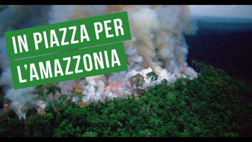 in piazza per amazzonia