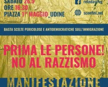 Manifestazione Udine rete dasi